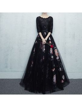 Remme   Floral Lace Panel Evening Gown by Remme