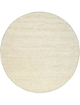 Nu Loom Cb01 Handwoven Chunky Cable Shag Rug, 6' Round, Off White by Nu Loom