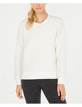 Sherpa Logo Sweatshirt by Calvin Klein Performance