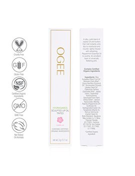 Ogee Sculpted Tinted Lip Oil   Organic & Natural Lip Primer, Moisturizer & Treatment Balm   Camellia (True Pink Color) by Ogee