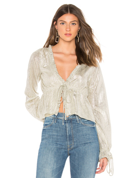 Liza Tie Front Top by Line & Dot