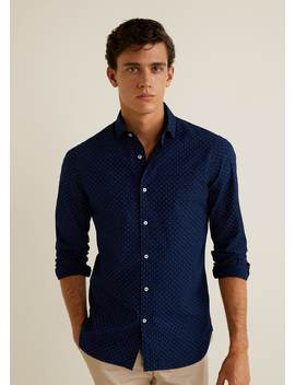 Camisa Slim Fit Micro Estampado by Mango