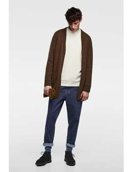 Long Cardigan  Knitwearman Sale by Zara