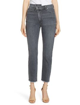 Amazing Asymmetrical Slim Straight Jeans by Ao.La By Alice + Olivia