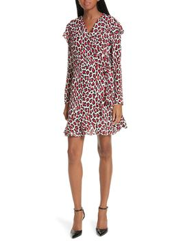 Lena Leopard Print Faux Wrap Dress by Robert Rodriguez