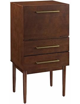 Crosley Furniture Everett Spirit Cabinet   Vintage Mahogany by Crosley Furniture