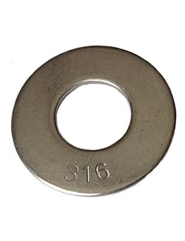 "Type 316 Stainless Steel Common Flat Washers Size 1/2"" (Pack Of 50pcs) Marine Bolt Supply by Marine Bolt Supply"