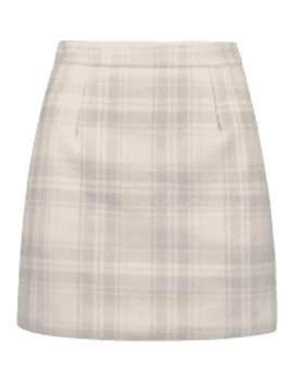 Wool Blend Plaid Skirt   Multi A L by Zaful