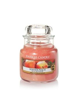 Yankee Candle   Small Classic 'summer Peach' Scented Jar Candle by Yankee Candle