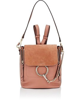 Faye Small Light Pink Grained Calfskin Backpack by Chloé