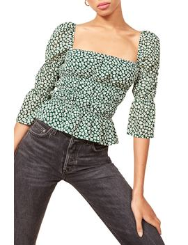 Ayla Square Neck Blouse by Reformation