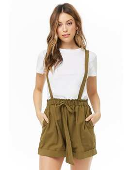 Ruffle Trim Suspender Shorts by Forever 21