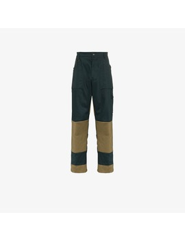 Viktor Straight Leg Contrasting Panel Trousers by Gmb H