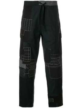 Patchwork Track Pants by Maharishi