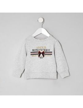 Mini Girls Grey 'amour' Sweatshirt by River Island