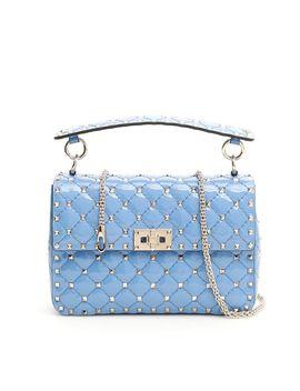 Valentino Patent Medium Rockstud Spike Bag by Valentino