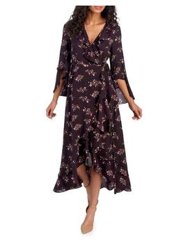 Floral Ruffled Midi Wrap Dress 						Floral Ruffled Midi Wrap Dress by Max Studio 						Max Studio