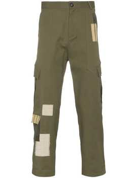 Green Patchwork Combat Trousers by 78 Stitches