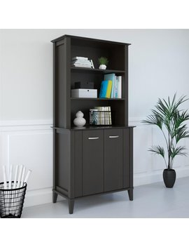 Ameriwood Home Quinn Bookcase With Doors, Espresso by Ameriwood Home