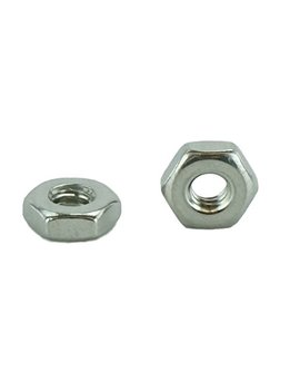 Stainless 8 32 Hex Nut, Stainless Steel 18 8, Machine Thread (100 Pcs, 8 32 Hex Nut) by Chenango Supply