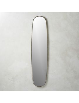 Rogue Large Brass Oval Mirror by Crate&Barrel