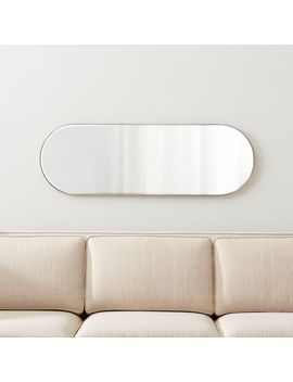Edge Brass Capsule Mirror by Crate&Barrel