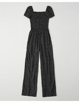 Smocked Jumpsuit by Abercrombie & Fitch
