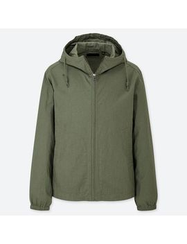 Men Linen Cotton Full Zip Parka by Uniqlo