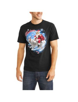 "Holiday Santa Cat ""Believe"" Graphic T Shirt, Size 2 Xl by Holiday"