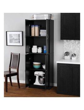 Mainstays 4 Shelf Multipurpose Storage Cabinet, Black by Mainstays