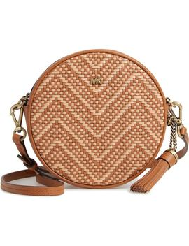 Medium Leather Canteen Crossbody Bag by Michael Michael Kors