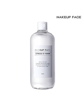 Nakeup Face Stress Zero Toner 16.9 Oz, Ewg Green Rating, Ethanol Free, P H 5.0 Low Acidity, 90 Percents Sea Water, Moisturizer, 500ml by Nakeup Face