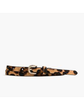 Skinny Calf Hair Belt In Leopard by J.Crew