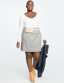 Plaid A Line Mini Skirt by Eloquii