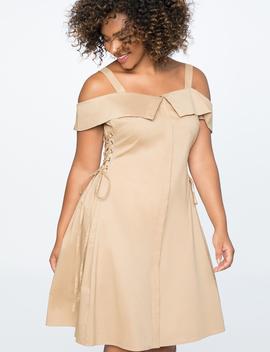 Lace Up Shirt Dress by Eloquii