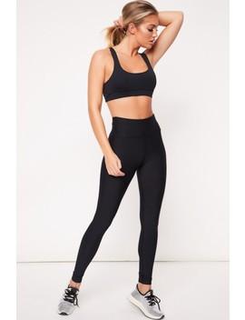 Millie Black High Waisted Gym Leggings by Misspap