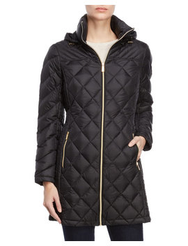 Black Quilted Packable Down Coat by Michael Michael Kors