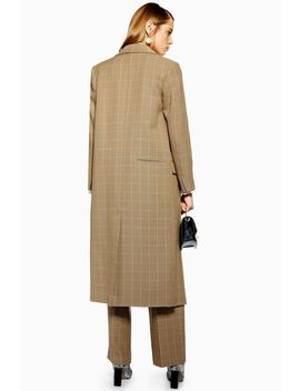 Windowpane Check Coat by Topshop
