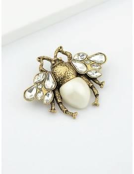 White Bee Brooch by Sheinside