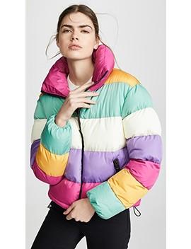 Rainbow Puffer Jacket by Glamorous