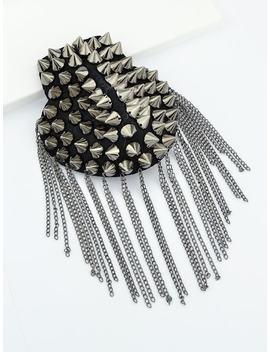 Punk Tassel Shoulder Brooch by Sheinside