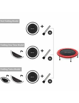 Ancheer Mini Trampoline With Safety Pad, Bouncer Max Load 220lbs, Fitness Rebounder In Home Trampoline For Kids Adults, Quiet And Safe Bounce Spring Mini Bouncer, Home/Office Cardio Trainer by Ancheer