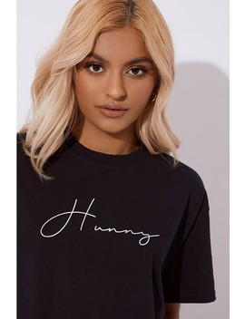 Laura Jade Hunny Black Slogan Tee by In The Style