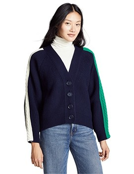 Cable Tape Cardigan by Sjyp