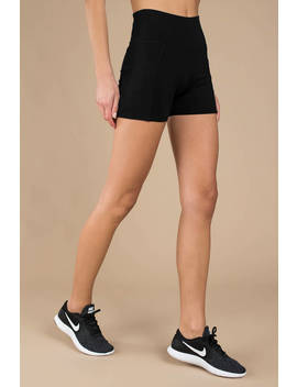 Jennie Black High Rise Spandex Shorts by Tobi