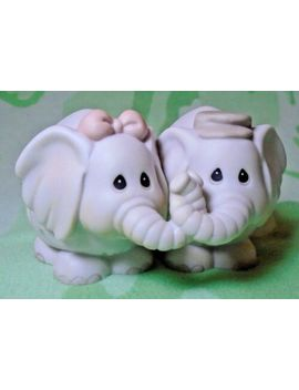 Vintage The Enesco Precious Moments Collection Elephants Figurine 1992 #530131 by Enesco