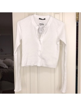 Brandy Melville Waffle Henley Crop Long Sleeve   Nwt by Brandy Melville