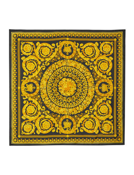 Printed Silk Twill Scarf by Versace