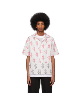 White Stripe Cut Up Billy Shirt by Mcq Alexander Mcqueen