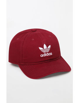Adidas Washed Red Strapback Dad Hat by Pacsun